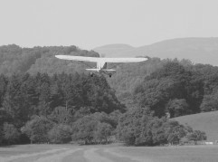 Cub departing from Nantclwyd Hall, July 2013