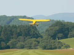 Cub departing from Nantclwyd Hall, July 2013